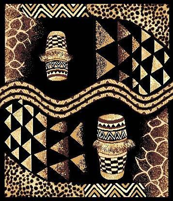 African decor tribal drums animal skin print 5x8 area rug for African skin decoration