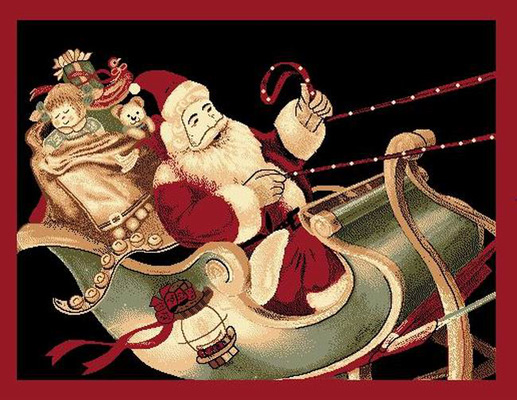 Santa Sleigh Ride Christmas holiday santa sleigh